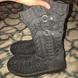 4b6804dad94 UGG Women's Kalla Knit Sweater boots - Grey
